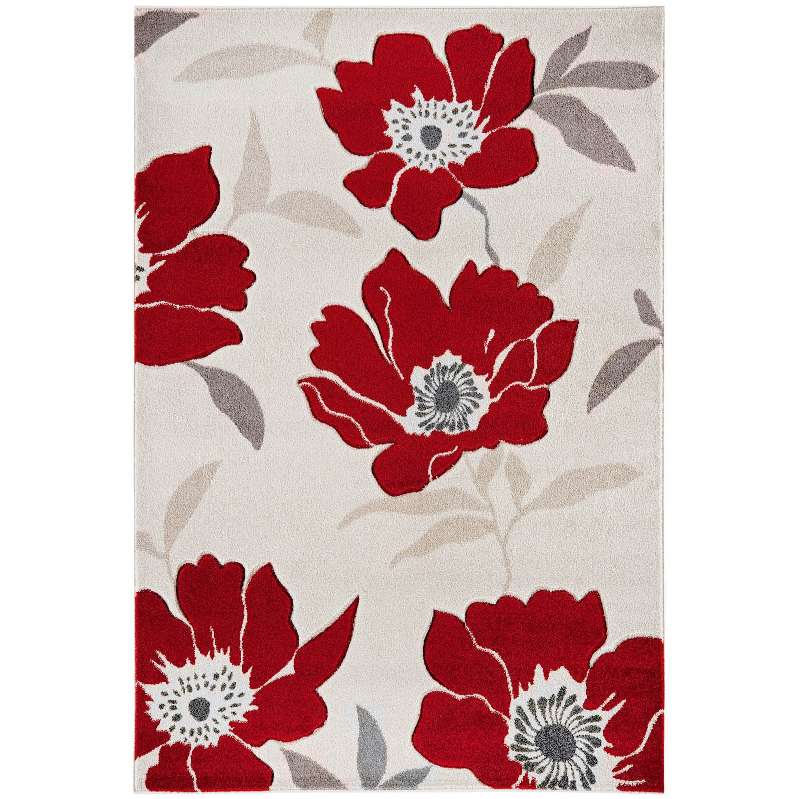 Vogue Poppies Rugs VG02 in Red