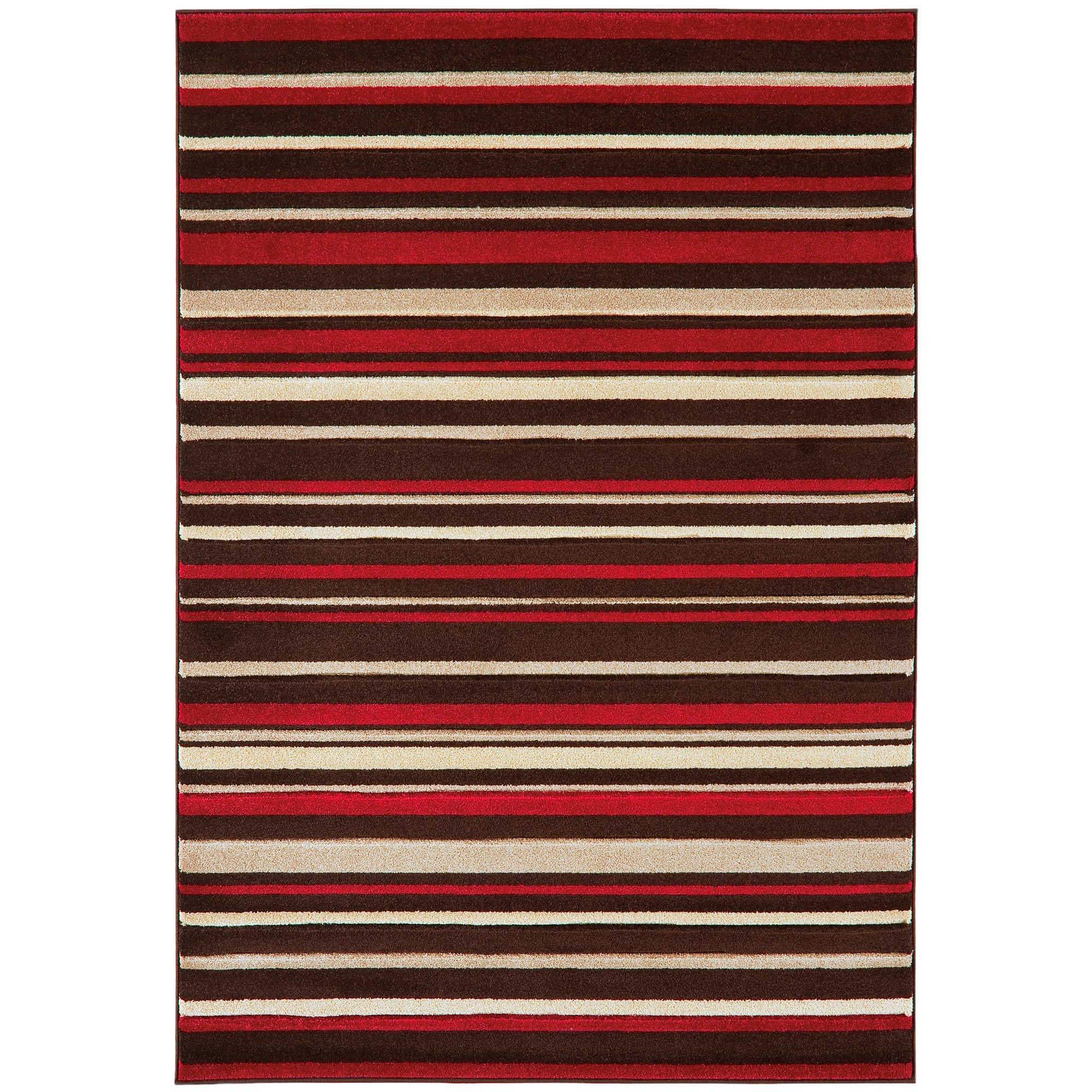 Vogue Stripes Rugs VG20 in Brown and Red