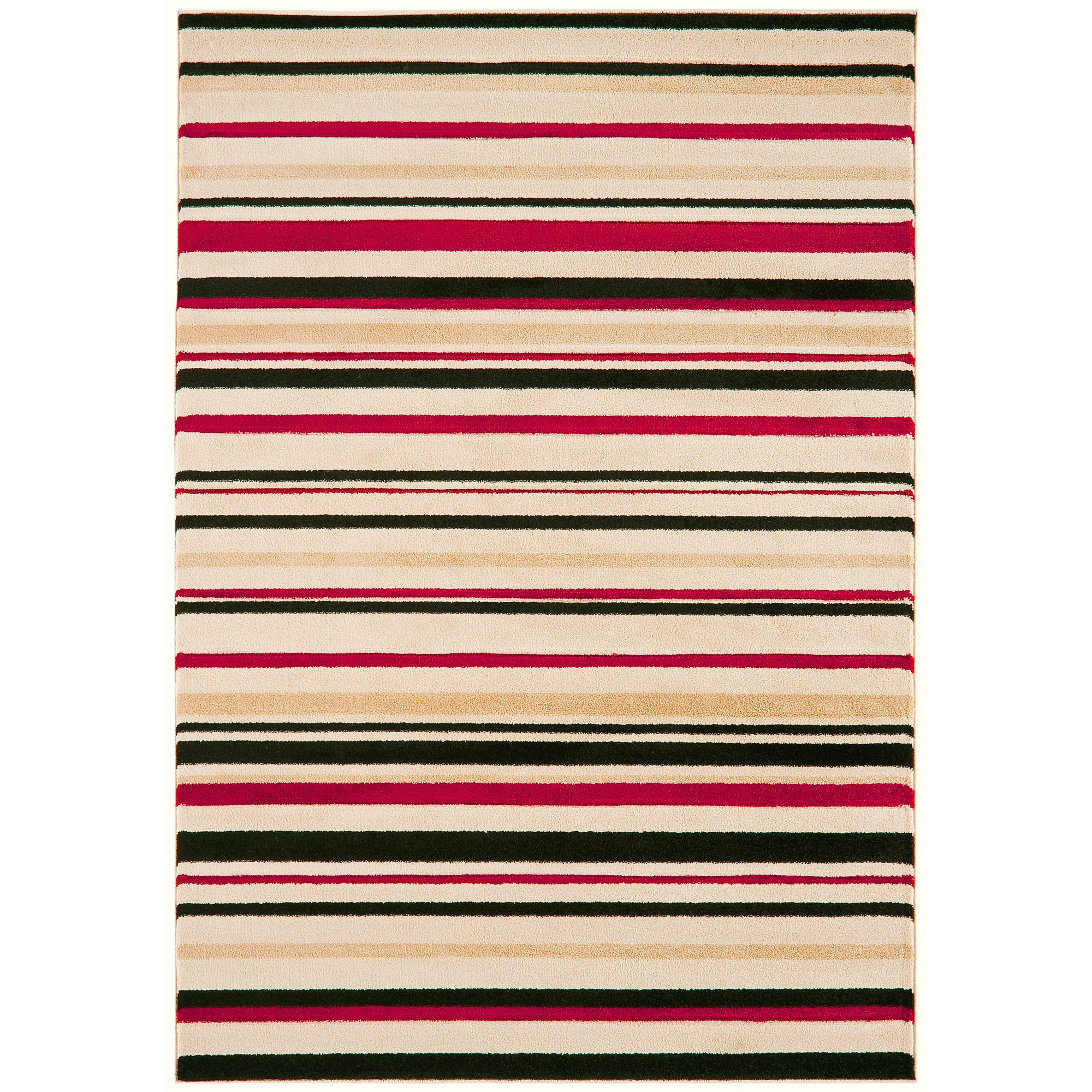 Vogue Stripes Rugs VG23 in Beige and Red