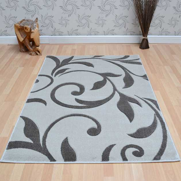 Vogue Vine Rugs VG26 in Grey and Cream