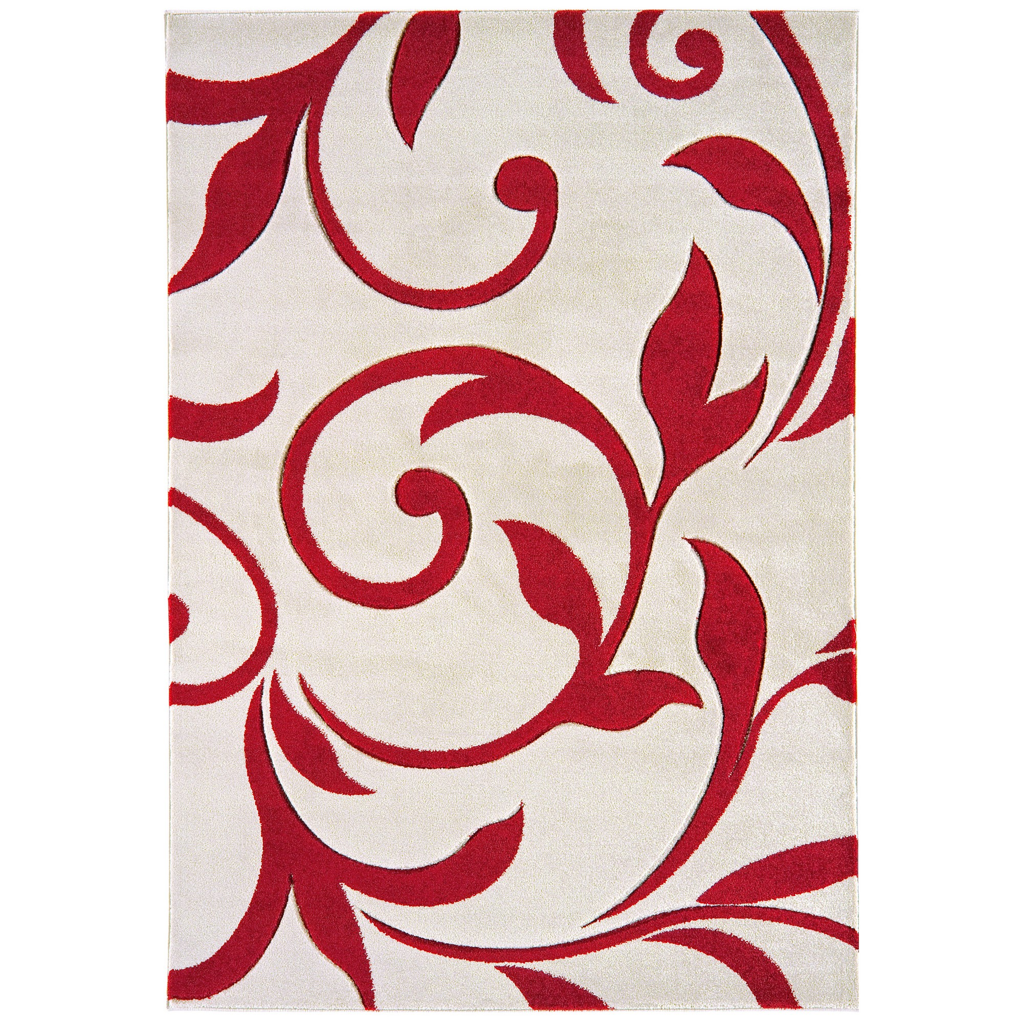 Vogue Vine Rugs VG27 in Red and Cream