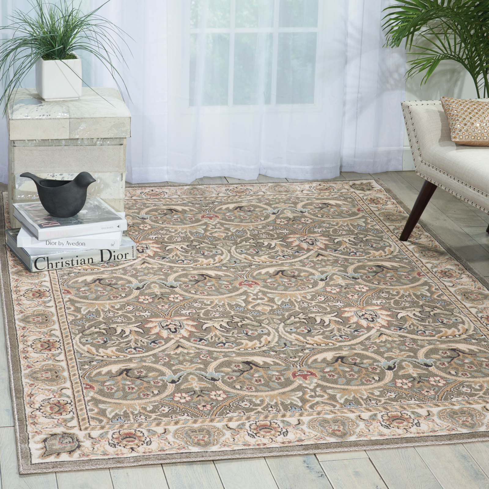Walden Rugs WAL03 in Khaki Grey
