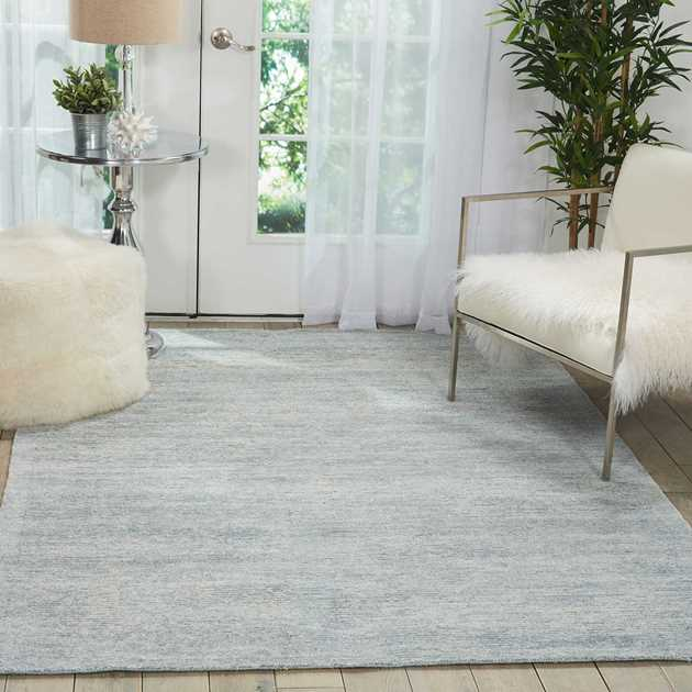 Weston Rugs WES01 by Nourison in Aqua Marine