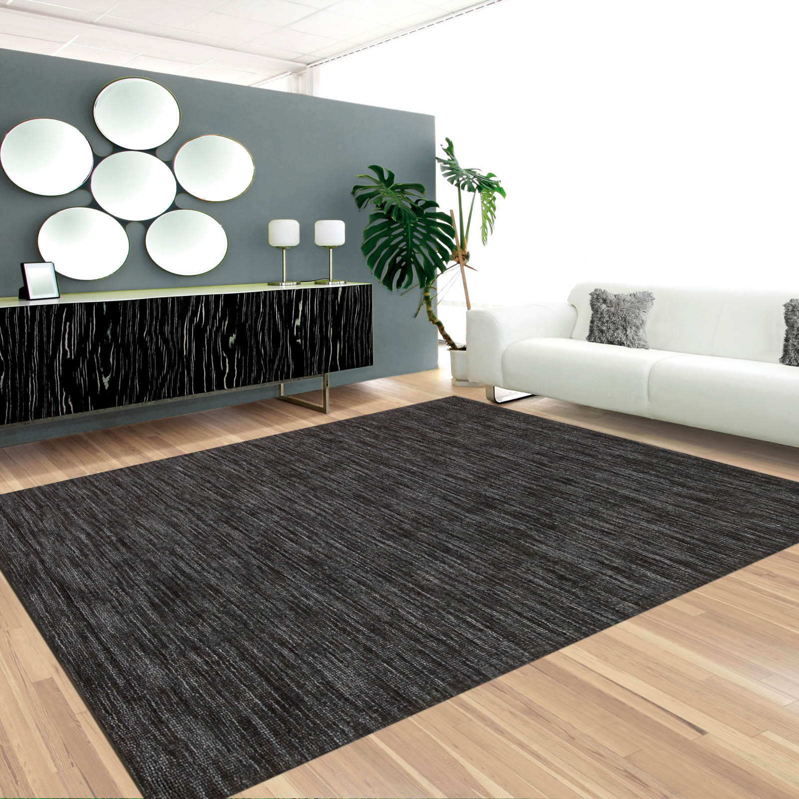Waverley Grand Suite Rugs in Charcoal