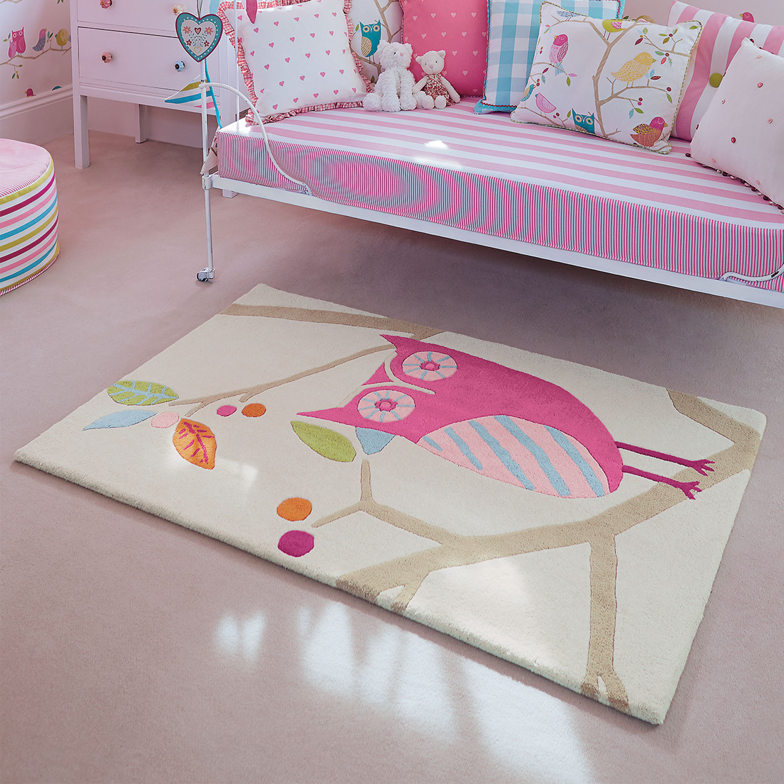 What A Hoot Rugs 42202 Candy by Harlequin Kids