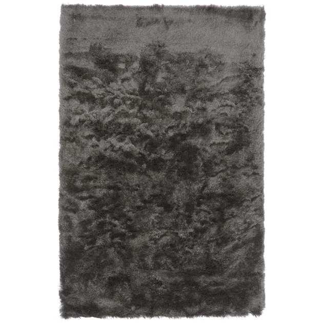 Whisper Shiney Shaggy Rugs in Graphite Grey