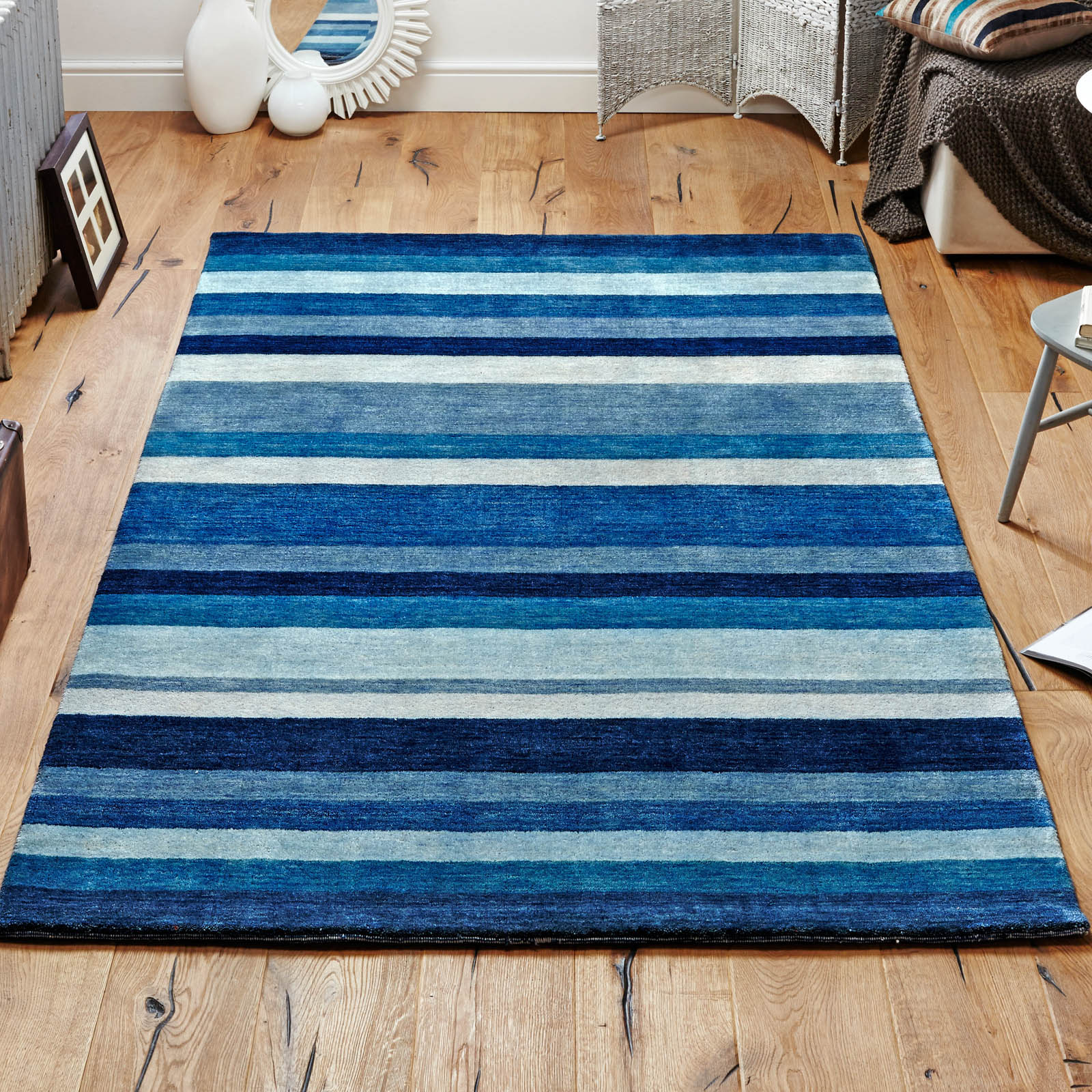 Winslow Rugs in Stripe Blue