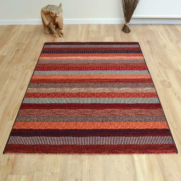 Woodstock Rugs 32743 1382 in Red and Orange