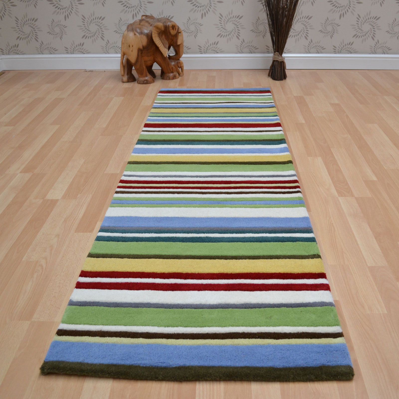 Wool Stripes Hallway Runners in Summer