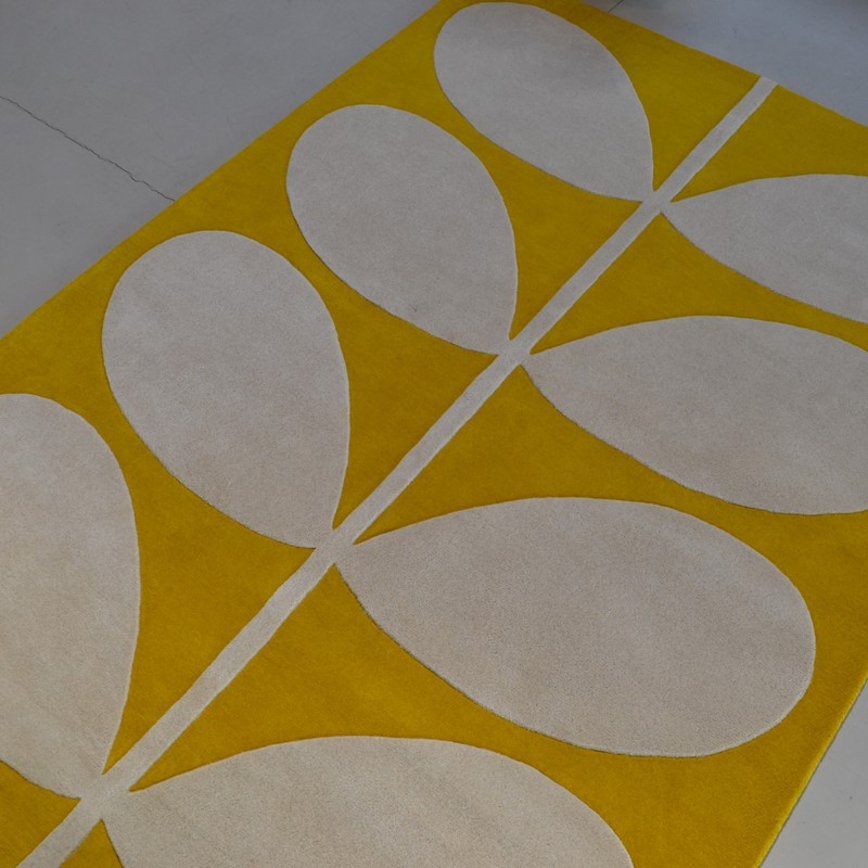 Yellow Stem Rugs 59306 In Black By Orla Kiely Buy Online