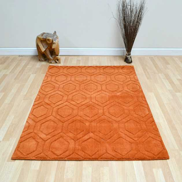 Zante Rugs in Terracotta