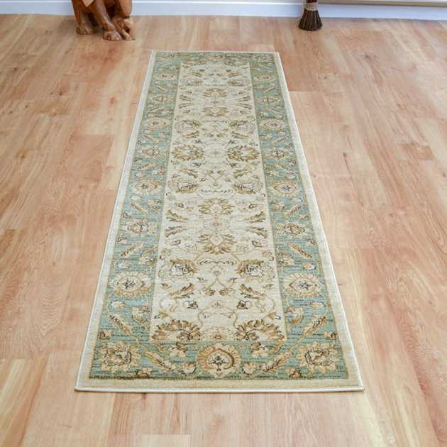 Ziegler Hallway Runner 7709 in Cream and Green