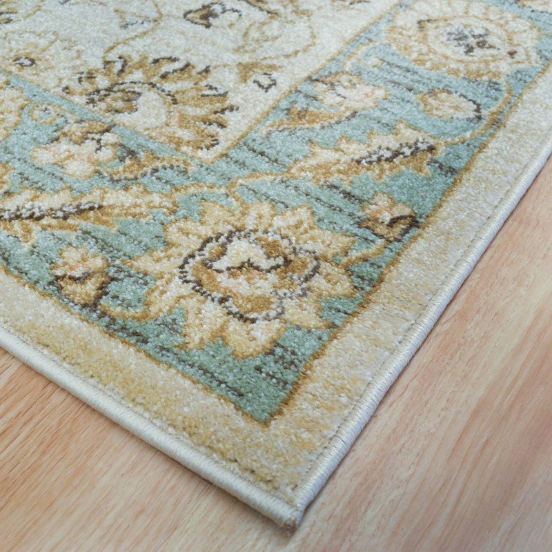 Ziegler Hallway Runner 7709 In Cream And Green Buy Online