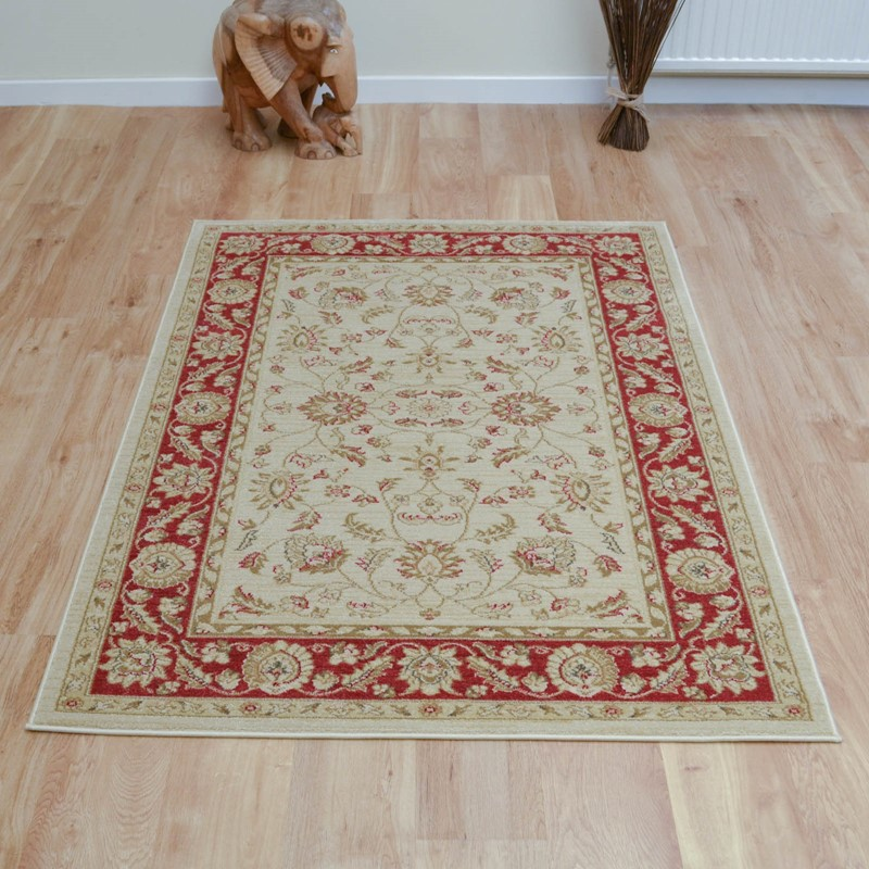 Ziegler Rugs 7709 In Cream And Red Buy Online From The Rug