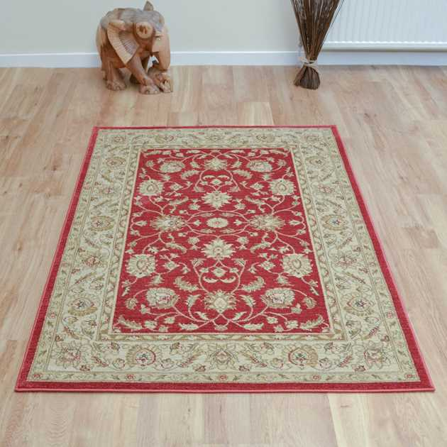 Ziegler Rugs 7709 in Red and Cream